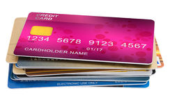 Stack of credit cards Royalty Free Stock Photography