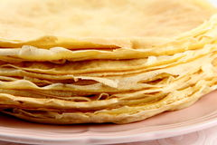 Stack of crepe Royalty Free Stock Photo