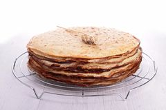 Stack of crepes Stock Image