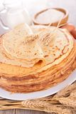 Stack of crepes Royalty Free Stock Photography
