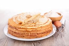 Stack of crepes stock photography