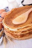 Stack of crepes Stock Photo