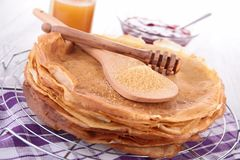 Stack of crepes Royalty Free Stock Photos