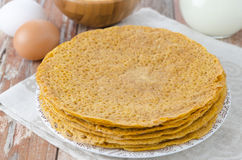 Stack of crepes made of corn flour Royalty Free Stock Photography