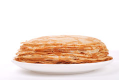 Stack of crepes on a plate Royalty Free Stock Image