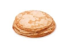 Stack of crepes on a plate Royalty Free Stock Images