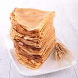 Stack of crepes Royalty Free Stock Images