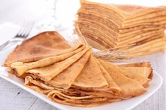 Stack of crepes Stock Photos