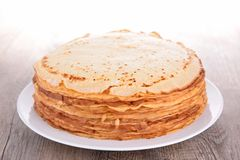 Stack of crepes Royalty Free Stock Image