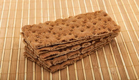 Stack of Crisp Bread Stock Photography