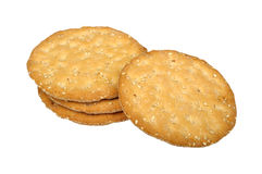 Stack of crispbread Royalty Free Stock Photo