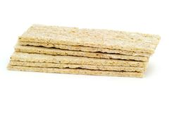 Stack of crispbread Stock Photos