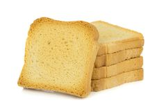 A stack of crispbread toast Royalty Free Stock Photo