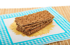 Stack of Crispbreads Royalty Free Stock Photography