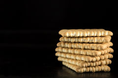 Stack of crispy crackers Stock Photography