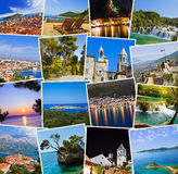 Stack of Croatia travel photos Royalty Free Stock Photos