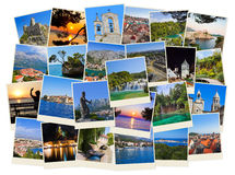 Stack of Croatia travel photos Royalty Free Stock Photography