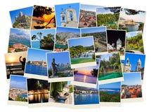 Stack of Croatia travel photos Royalty Free Stock Photography