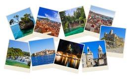 Stack of Croatia travel photos Royalty Free Stock Image