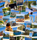 Stack of Croatia travel photos Royalty Free Stock Images