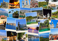 Stack of Croatia travel photos Stock Image