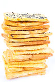 Stack of crunchy bread Royalty Free Stock Photos