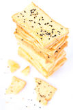 Stack of crunchy bread Stock Photo