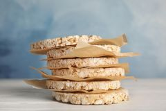 Stack of crunchy rice cakes royalty free stock photography