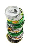 Stack of crushed cans Stock Photography