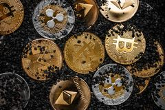 Cryptocurrency concept Royalty Free Stock Photography