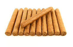 Stack of cuban cigars Royalty Free Stock Photo