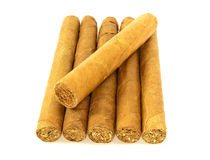 Stack of cuban cigars Stock Photo