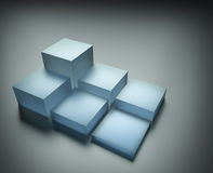 Stack of cubes on abstract background Stock Images