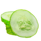 stack of cucumber slices Royalty Free Stock Photo