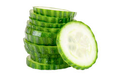 Stack of cucumber slices Stock Photography