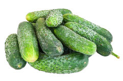 Stack of cucumbers Royalty Free Stock Photo