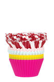 Stack of cupcake cups Royalty Free Stock Image