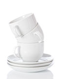 Stack Of Cups & Saucers Royalty Free Stock Photo