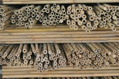 Stack of cut bamboo Stock Photo