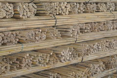 Stack of cut bamboo Royalty Free Stock Images