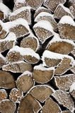 Stack of cut firewood Royalty Free Stock Photo