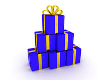 Stack of 3D Gift Boxes. A stack of wrapped gift boxes Royalty Free Stock Images