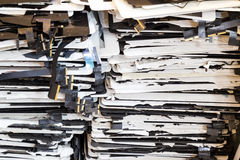 Stack of damaged and shattered tablet pad computer screen stock photography