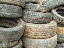 Stack Of Damaged Tires Royalty Free Stock Photos