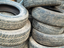 Stack Of Damaged Tires Stock Photography