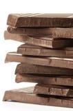 Stack of dark chocolate Stock Photography