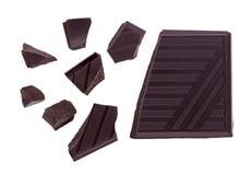 Stack of dark chocolate Stock Photos