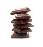Stack Of Dark Chocolate Pieces Royalty Free Stock Photos