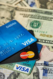 Stack of debit cards Royalty Free Stock Images