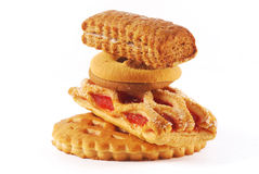 Stack of delicious cookies Royalty Free Stock Images